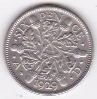 Grande Bretagne. 6 Pence 1929. George V, En Argent - H. 6 Pence