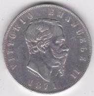 5 Lire 1871 M Milano, Vittorio Emanuele II , En Argent - 1861-1946 : Kingdom