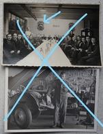 Photox2 CITROEN Garage Fête Du Personnnel ? 50's Plaque émaillée ? - Automobile