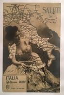 30040 Carta Ferroviaria Ricordo Anno 1906 - Pin-Ups