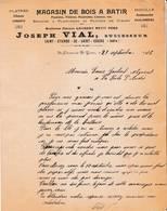 38 ST ETIENNE DE SAINT GEOIRS COURRIER 1916 Magasin De Bois à Batir VIAL Succ. De LAURENT   X70 Isère - 1900 – 1949