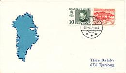Greenland Cover Kap Tobin 28-11-1980 Sent To Denmark - Greenland