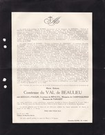 HAVRE MONS VALENCE Maria Dolorès AGULLO Y PAULIN Comtesse RIPALDA Etc Comtesse Du VAL De BEAULIEU 76 Ans 1942 - Obituary Notices