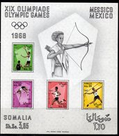BF0B - OLYMPICS 1968 SOMALIA OLYMPICS GAMES MEXICO  SOUVENIR SHEET     *** - Verano 1968: México