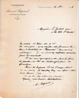 38 ST ETIENNE DE SAINT GEOIRS COURRIER 1908 FOURRAGES Armand SERPINEt   X70 Isère - 1900 – 1949