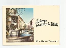 13 Aix En Provence Auberge De La Croix De Malte 2 Rue Vanloo, Vue De La Fontane Pascal - Aix En Provence
