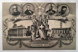 30045 Pensiero Azione 1861 - 1911 - Commemorativa 1911 - Patriotiques