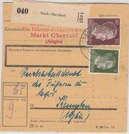 DR - 60+5 Pfg. AH, Paketkarte Marktoberdorf - Kempten 1944, RAD-Absender !! - Germany
