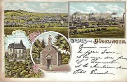 Gruss Aus Düdelingen  -  Buchdruckerei UndSchreibwarenhandlung Chr.Nic Beicht,Düdelingen  2 Scans - Postkaarten