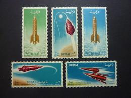 DUBAI, Poste Aérienne, Année 1964, YT N° 40 à 44 Neufs MNH** - Dubai