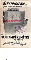 79- NIORT - PUBLICITE VOLTAMPEREMETRE- RADIO ELECTRICTE R. BEAUCHAMP- 16 AVENUE PARIS- ELECTRICIEN - Electricity & Gas