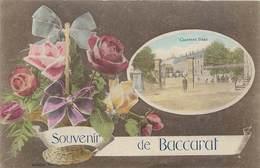 CPA 54 Meurthe Et Moselle Souvenir De Baccarat - Casernes Haxo - Militaria - Roses - Baccarat