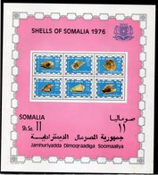 ETP406 - SOMALIA 1976 , Michel Il BF N. 3  Nuovo     ***  Conchiglie Coquillage - Somalia (1960-...)
