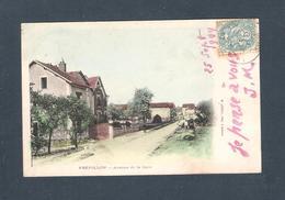 95 - FREPILLON  /    - AVENUE DE LA GARE  (carte Qui A Voyagé En 1904)   M. LEROEIL , Phot.à Domont - Autres Communes