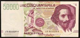50000 LIRE BERNINI II° TIPO SERIE D 1997 Fds   LOTTO 3002 - [ 2] 1946-… : Repubblica