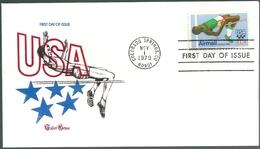 B4088 USA FDC Olympic 1980 Sport Athletics Special Cachet Of Tudor House - Estate 1980: Mosca