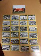 24 PHOTOS CHROMO EQUIPE DE FOOTBALL +  CARTE EQUIPE NATIONAL BELGE AVEC GOETHALS, Goteborg,stockholm, - Autres