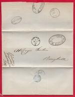 REGNO ITALIA - 1861 Lettera Con Testo Da BAGNARA A BRISIGHELLA - Timbri Postali BAGNARA Ovale FAENZA IMOLA E SIGILLO - 1861-78 Victor Emmanuel II.