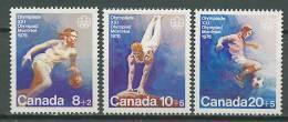 Canada 1976 Olympic Games Montreal, Football Soccer, Basketball, Gymnastics Set Of 3 MNH - Estate 1976: Montreal