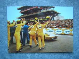 24H DU MANS - ARRIVEE VICTORIEUSE D' UNE VOITURE OPAL - Le Mans