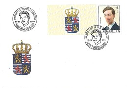 Luxembourg  -  FDC   11.11.1999  Majorite Du Prince Guillaume - FDC
