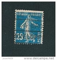 N°  140 Type Semeuse Fond Plein Sans Sol BLEU Foncé  Timbre France Oblitéré  1906 - 1900-02 Mouchon