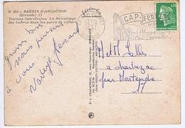 GIRONDE - Flamme Illustrée à Droite CAP-FERRET Du 12 - 7  1971 - Marcophilie (Lettres)