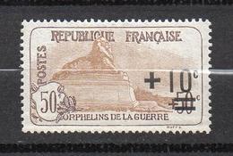 Timbre De France N° 167 Orphelins De Guerre +10 C S. 50+50 C Neuf * Avec Trace De Charnière - Nuevos