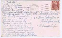 ILLE Et VILAINE - Flamme Muette Ondulée ST MALO ROCABEY Du 19 VI 47 - Marcophilie (Lettres)