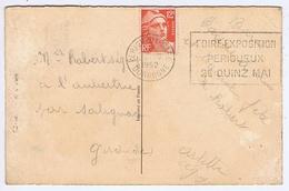 DORDOGNE - Flamme Illustrée à Droite PERIGUEUX Du 29 - IV  1952 - Foire Exposition - Marcophilie (Lettres)