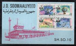 ETP409 - SOMALIA 1977 , Souvenir Sheet Usato  30mo ICAO OACI - Somalia (1960-...)