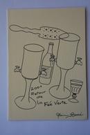 """Faisant Office De Carte Double-signee Alain Barré-""""2001 Retour De La Fee Verte""""-theme Absinthe-voir Scans - Illustrators & Photographers"""