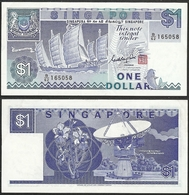 SINGAPORE - 1 Dollar 1987 P# 18a Asia Banknote - Edelweiss Coins - Singapore