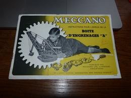 Ancien Catalogue De Pièces  Meccano Années 50 - Oude Documenten