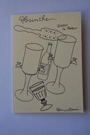 Faisant Office De Carte Double-signee Alain Barré-absinthe-2001 Le Retour-theme Absinthe-voir Scans - Illustrators & Photographers