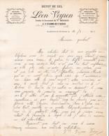 38 ST ETIENNE DE SAINT GEOIRS COURRIER 1916 Dépôt De SEL  épicerie Léon VEYRON X71 Isère - 1900 – 1949
