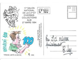 DEDICACE ORIGINALE...DE BERNARD VEYRI.....ALBI..1994..  TIRAGE   300EXPL. - Veyri, Bernard