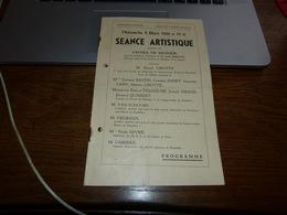 Fontaine L'Evêque Séance Arttistique 1944 - Publicités