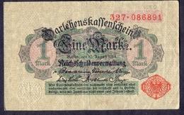 German Empire 1 Mark 1914 VF  DARLEHENSKASSENSCHEINE  P- 51 - Altri