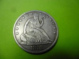 USA - Half Dollar 1858 O New Orléans En Argent - Seated Liberty VF+ /XF - Émissions Fédérales