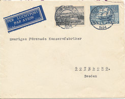 Netherlands Cover Sent To Sweden Amsterdam 3-8-1934 (See The Backside Of The Cover Have Been Pasted On Something) - 1891-1948 (Wilhelmine)