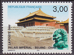 Timbre Neuf ** N° 3173(Yvert) France 1998 - France-Chine, Palais Impérial - France