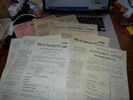 Lot 12 Documents Fontaine L'Evêque Années 1910-1920 Cotisation Impositions Communales - Diplomas Y Calificaciones Escolares