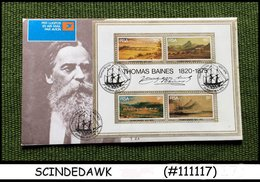 SOUTH AFRICA - 1975 FAMOUS PAINTINGS OF THOMAS BAINES - MIN/SHT -FDC - FDC