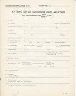 Saint-Dié , Vosges ,Kreiskommandantur I 7II , Demande De Laissez-passer ,1941/44 - Documenten