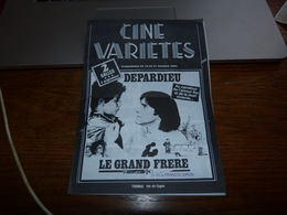 Programme Cinéma Variétés 1982 Tournai Gérard Depardieur - Programmes