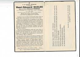 DP 8706 - HENRI BAELDE - WYTSCHAETE 1874 + HOUTHEM 1946 - Images Religieuses