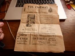 Programme Cinéma Palace Tournai 1962 (manque Dernière Page Au Centre) - Programmes