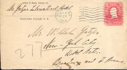EEUU Año 1904 Sobre Entero  Postal Circulado A N.Y Hotel Astor  Matasellos New York , - Etats-Unis