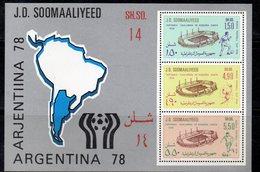 ETP410 - SOMALIA  , Souvenir Sheet BF N. 6 ***  Argentina 1978 - Coppa Del Mondo